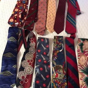 Designer vintage neck ties Neiman-Marcus and more!